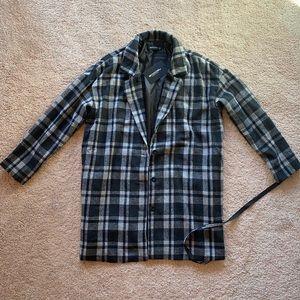 Plaid Black Coat
